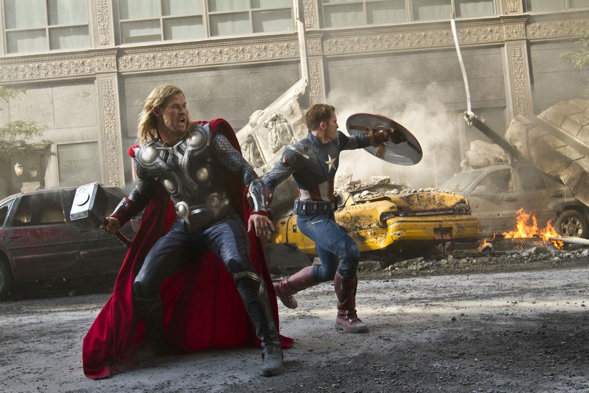 Thor und Captain America (Chris Hemworth / Chris Evans)