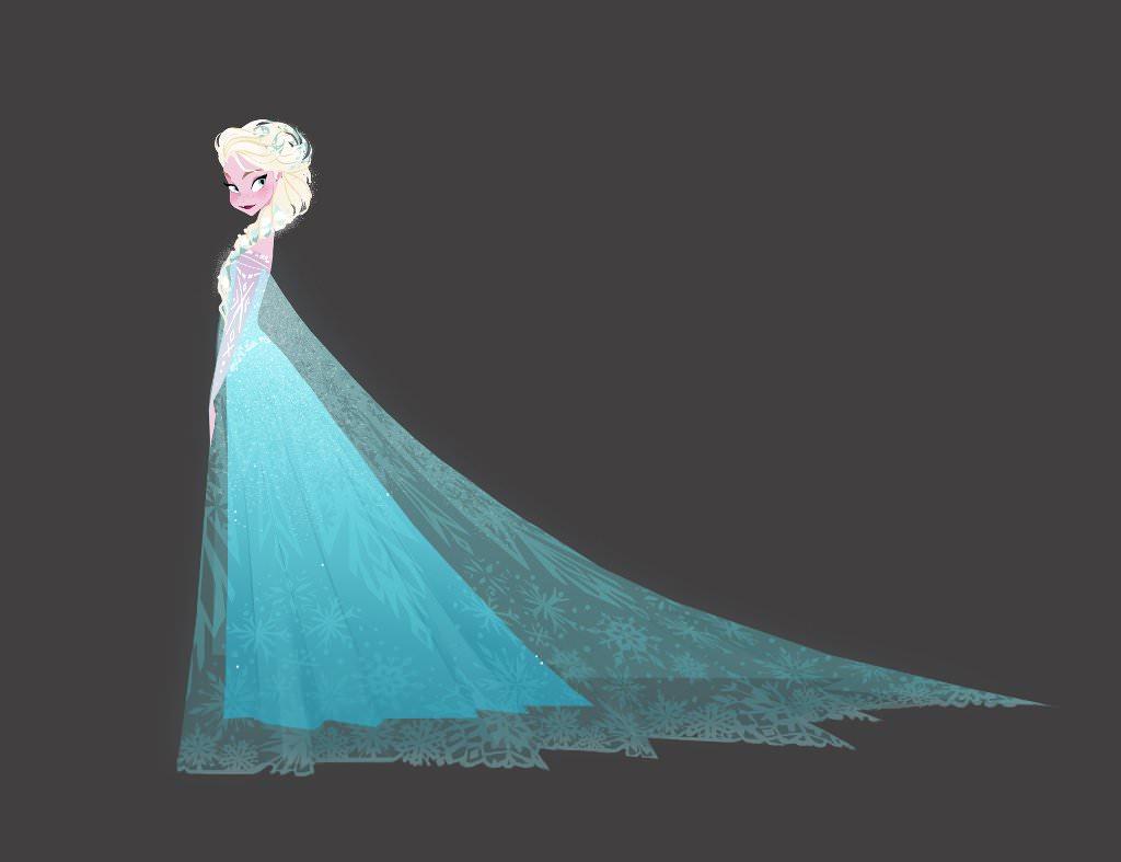 Eine fortgeschrittene Concept Art von Elsa als Eiskönigin. © Walt Disney Home Entertainment