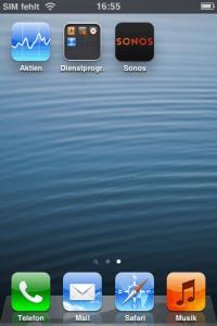 Am besten ist es, sein frisch zurückgesetztes Device auch nur mit den notwendigen Apps zu versorgen. Hier beispielsweise nur die Sonos-App.