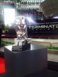 Der Terminator-Schädel bei der Premiere.