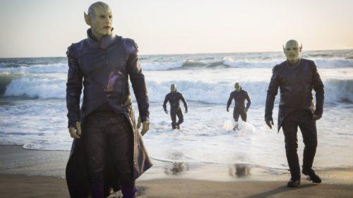 Skrull steifen aus dem Meer