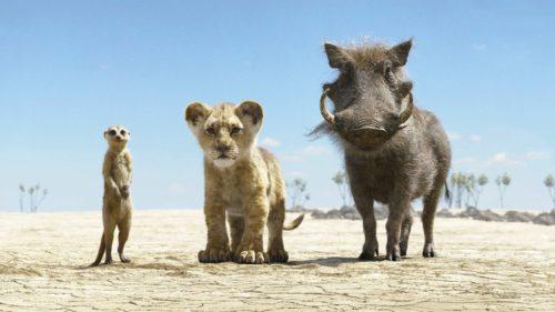 Timon, Simba und Pumbaa in der Steppe