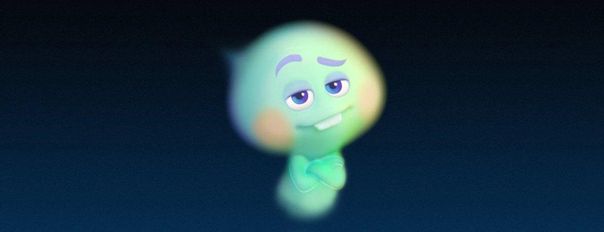 Seele 22 aus dem Film Soul lächelt verlegen