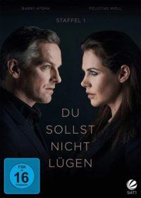 DVD Cover von Du sollst nicht lügen. Die Protagonisten schauen sich gegenseitig misstrauisch an
