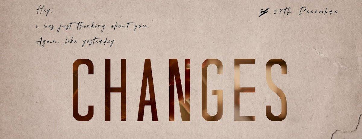 Schriftzug vom Kurzfilm Changes